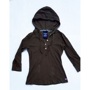Polo by Ralph Lauren 3/4 sleeve hooded top